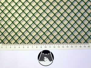 Machine-made netting polyamide (nylon) knotless 10×10/ 1,8 mm green