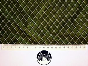 Aviary net for little birds PET 12/0,7 mm transparent