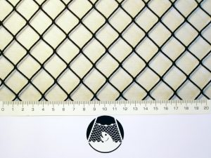 Machine-made netting polyamide (nylon) knotless 20×20/ 1,4 mm black