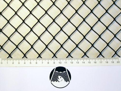 Machine-made netting Nylon knotless 20×20/ 1,4 mm black - 1