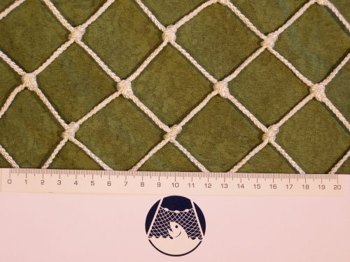 Protection net N 2,5 x 17 m, Polypropylene 40/2,0 mm knotted white - 1