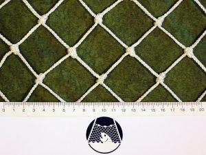 Machine-made netting polyprophylene knotless 45×45/3,0 mm white