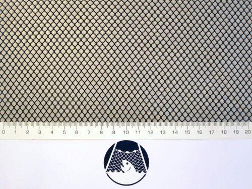 Machine-made netting polyamide (nylon) knotless 4×4/ 0,6 mm black - 1