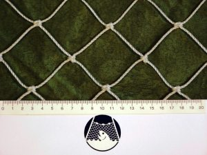 Baseball and softball net for less exposed places (protective) PET 50/2,5 mm white