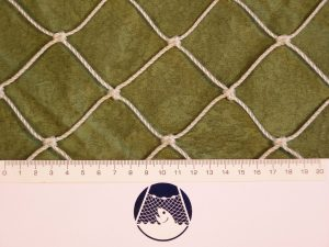 Baseball and softball net for highly exposed places (practice tunnels) PET 50/2,5 mm white