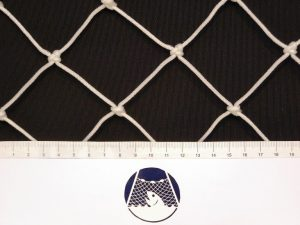 Baseball and softball net for highly exposed places (practice tunnels), Polyethylene 50/2,5 mm white