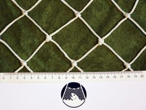 Machine-made netting polyprophylene knotted 50×50/3,0 mm white