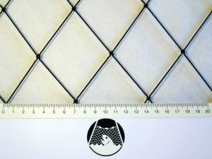 Protective nets against pigeons, Polyethylene 55/1,4 mm black