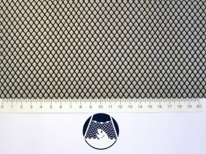 Machine-made netting polyamide (nylon) knotless 5×5/ 0,6 mm black