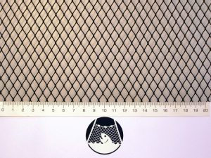 Machine-made netting polyamide (nylon) knotless 8×8/ 0,6 mm black
