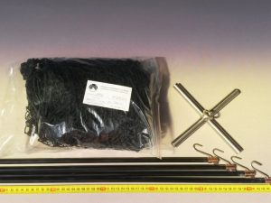 Drop net set 1,5 x 1,5 m/ Nylon knotless 20×20 mm black