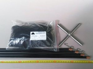 Drop net set  2 x 2 m/ Nylon knotless 8×8 mm black