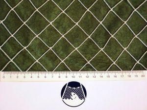 Drag net 60 x 6 m/ Nylon knotted 25×25/1,4 mm white