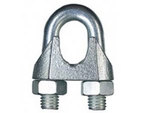 Rope clip for rope 2 – 3 mm galvanized