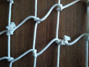 Hand-knitted net N, cotton 50/4,0 mm, 0,9 x 1,4 m - 3