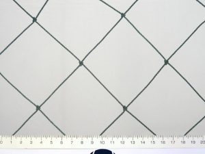Protective nets for breeding chickens and small domestic birds PET 80/2,0 mm dark green