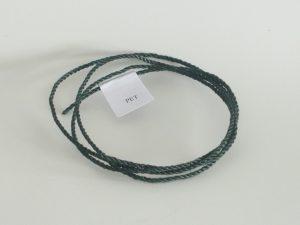 Polyethylene twine Ø 2,0 mm / 1m woven, dark green
