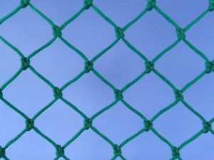 Baseball and softball net for highly exposed places (practice tunnels), Polyethylene 30/2,5 mm green
